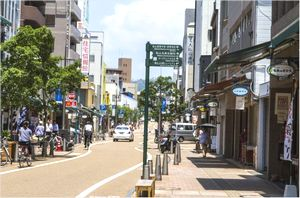松山城のロープウェイ街