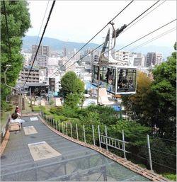 松山城ロープウェイの駐車場